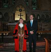 Councillor Sue Northcott with Mark Ritzmann.